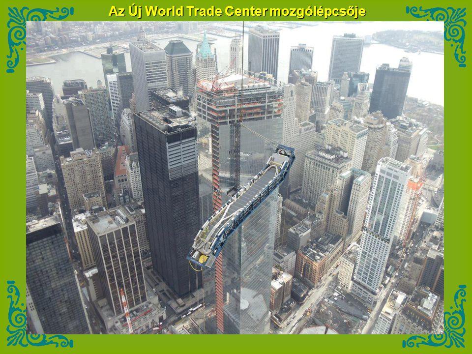 Az Új World Trade Center mozgólépcsője