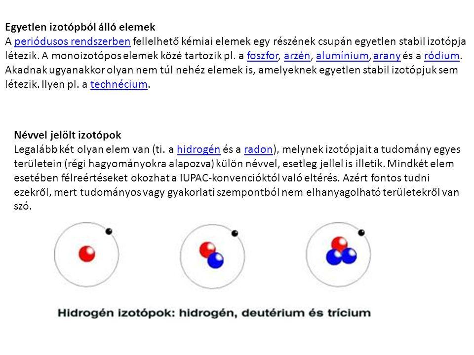Egyetlen izotópból álló elemek
