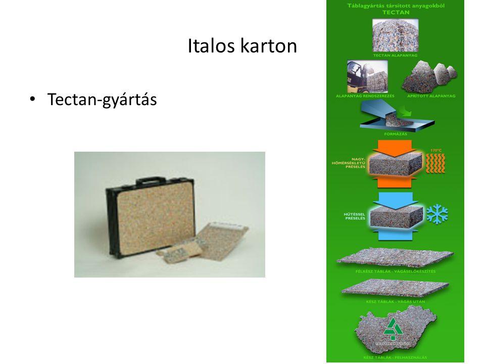Italos karton Tectan-gyártás