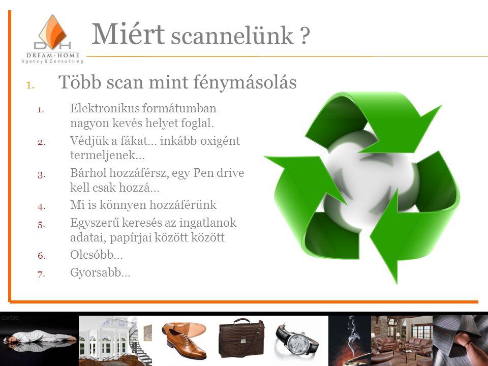 Miért scannelünk Több scan mint fénymásolás