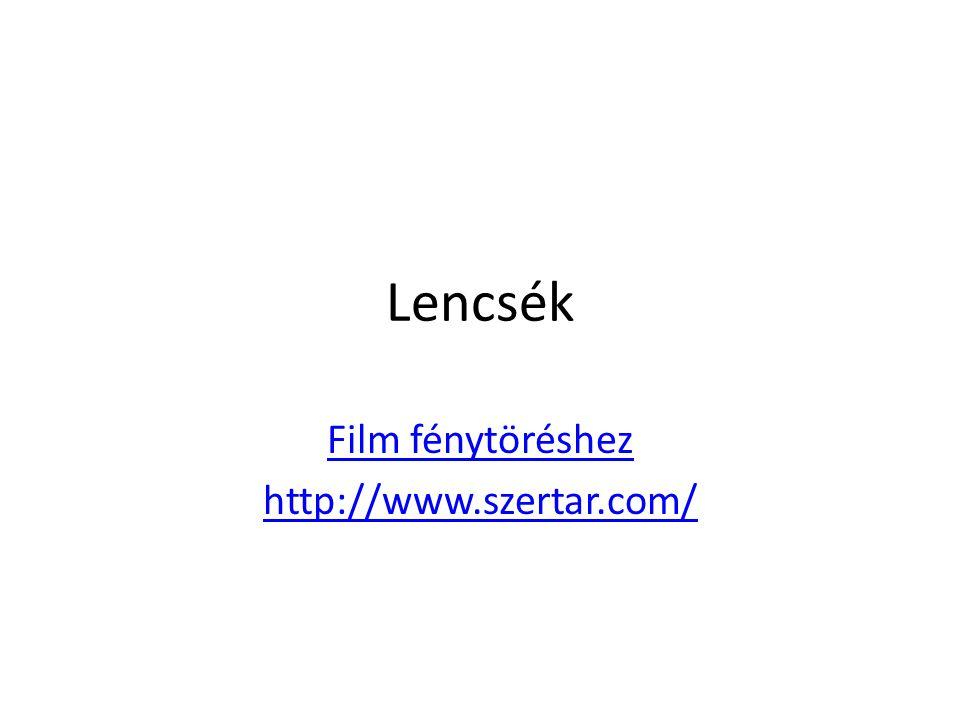 Film fénytöréshez http://www.szertar.com/