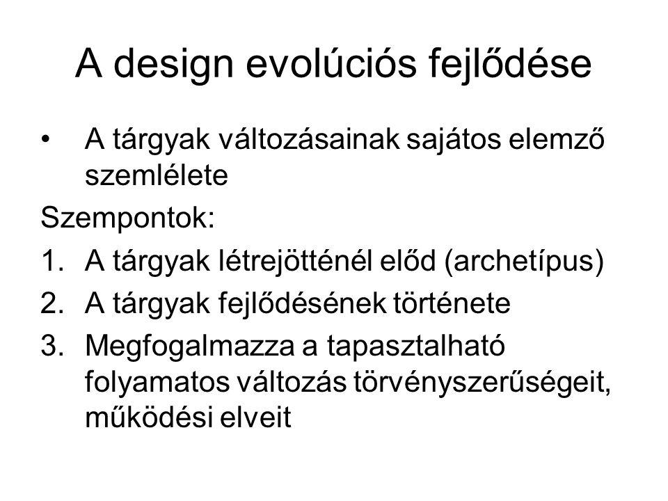 A design evolúciós fejlődése
