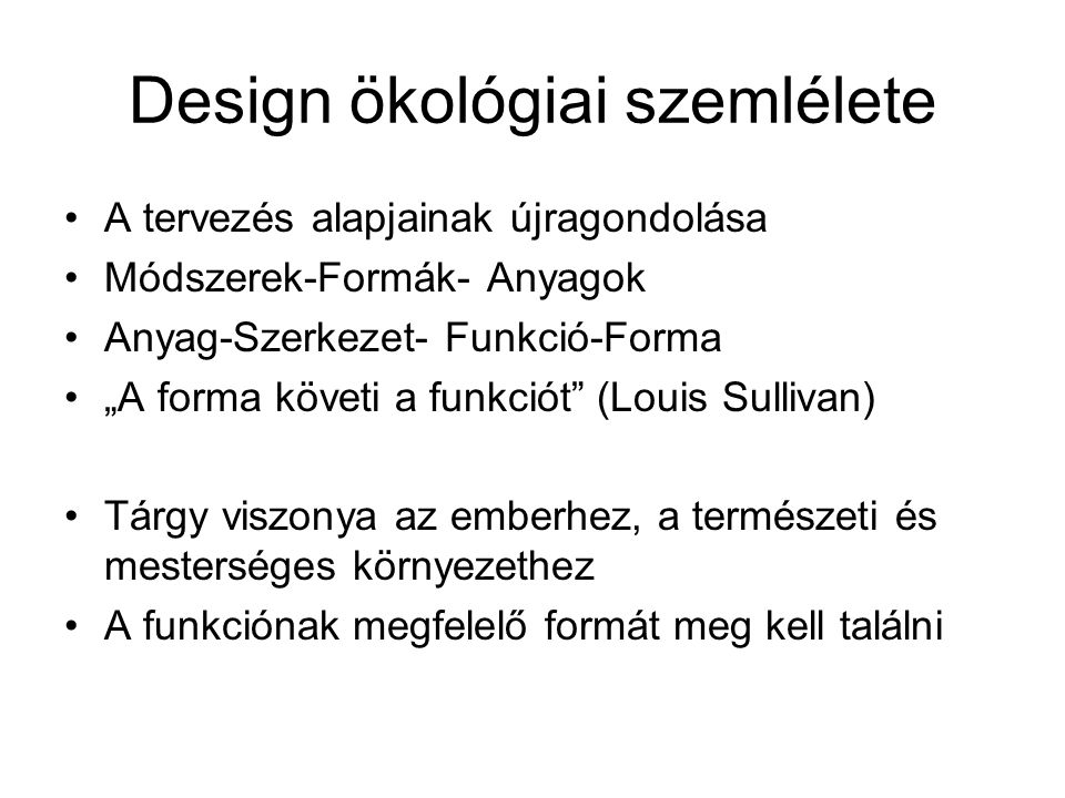 Design ökológiai szemlélete