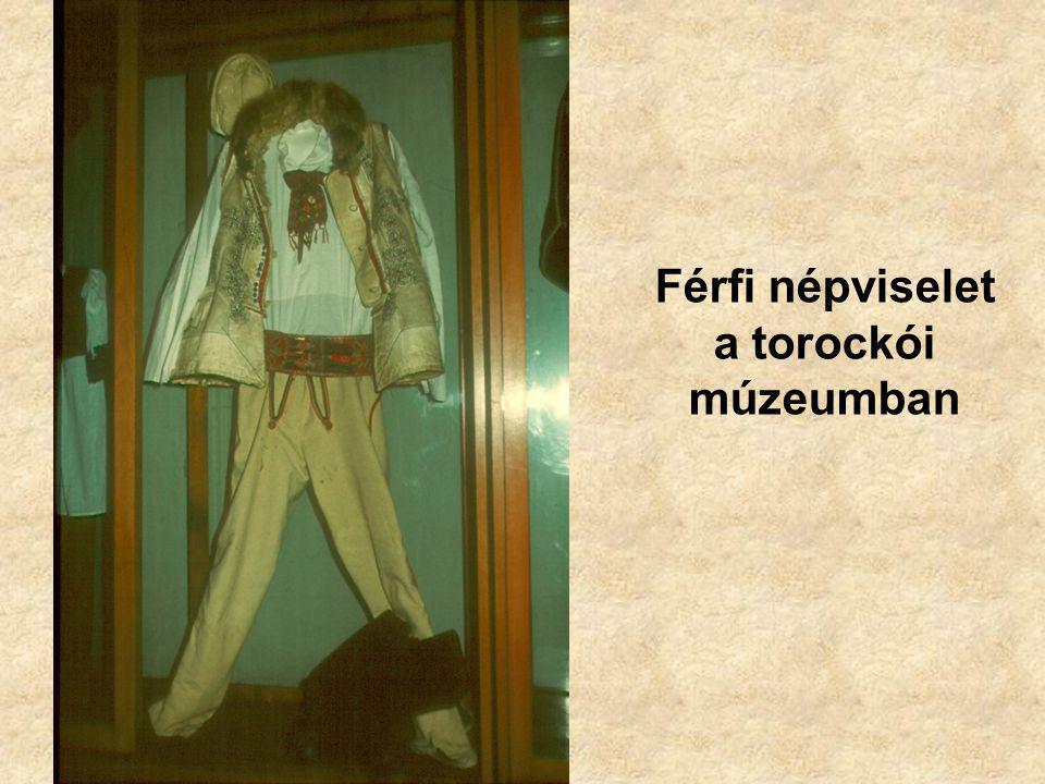 Férfi népviselet a torockói múzeumban
