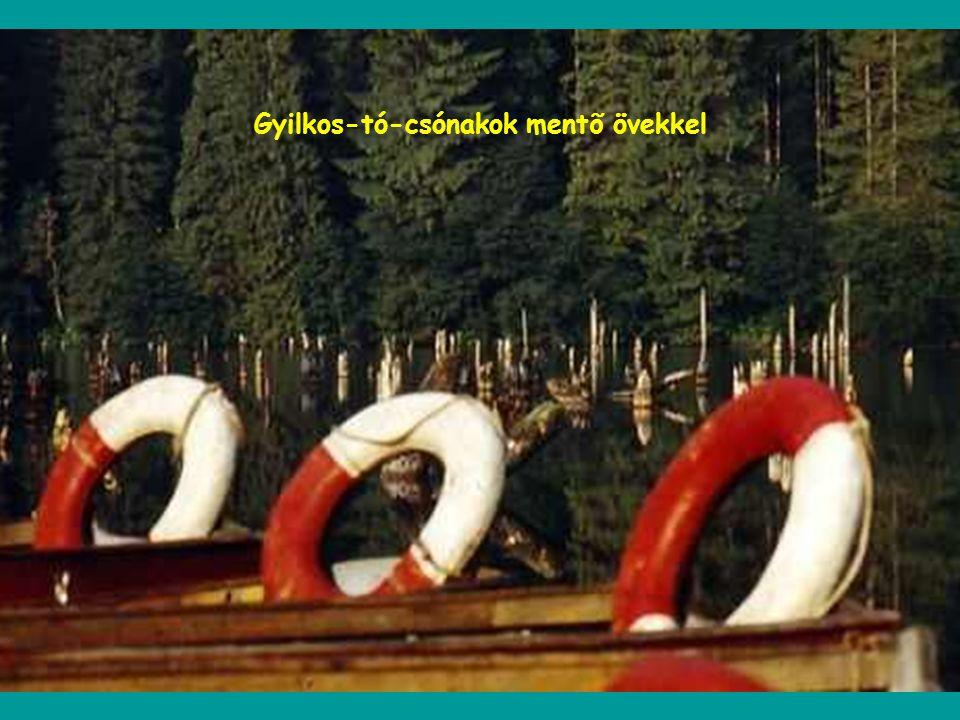 Gyilkos-tó-csónakok mentõ övekkel