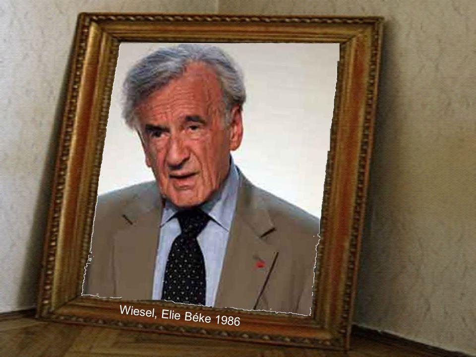 Wiesel, Elie Béke 1986