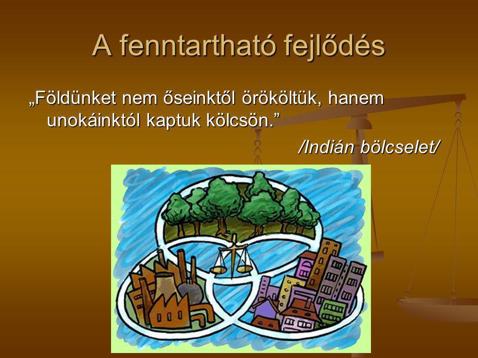 A fenntartható fejlődés