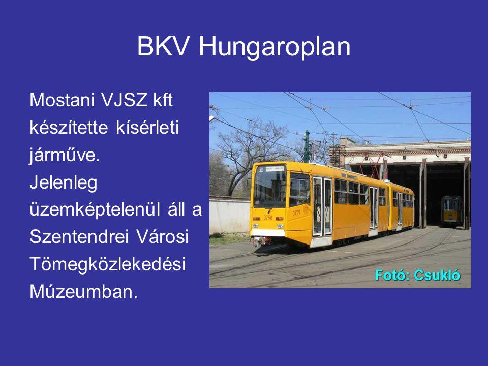 BKV Hungaroplan Mostani VJSZ kft készítette kísérleti járműve.