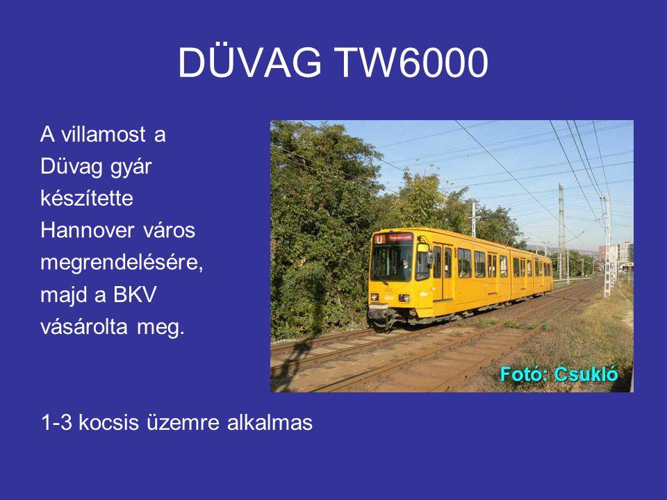DÜVAG TW6000 A villamost a Düvag gyár készítette Hannover város