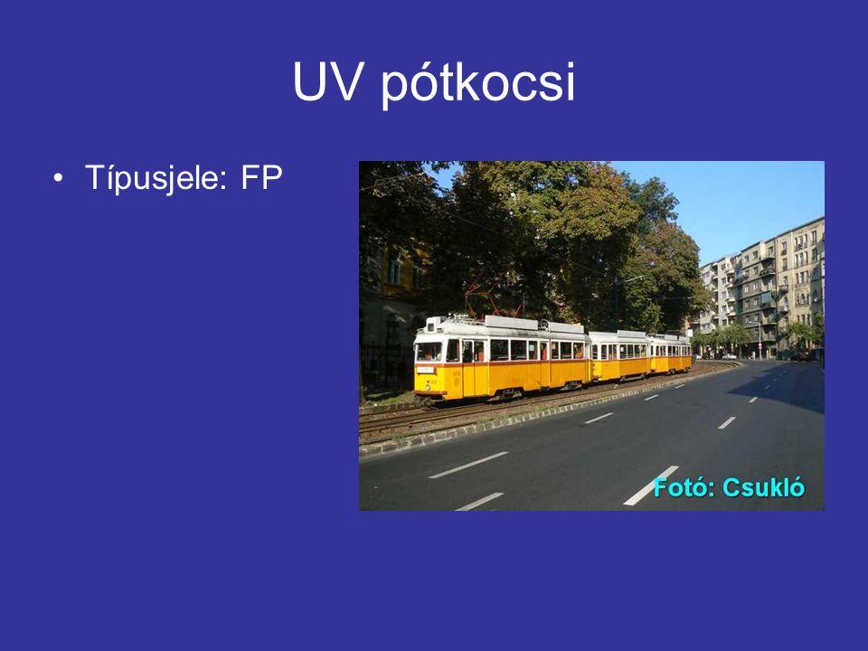 UV pótkocsi Típusjele: FP
