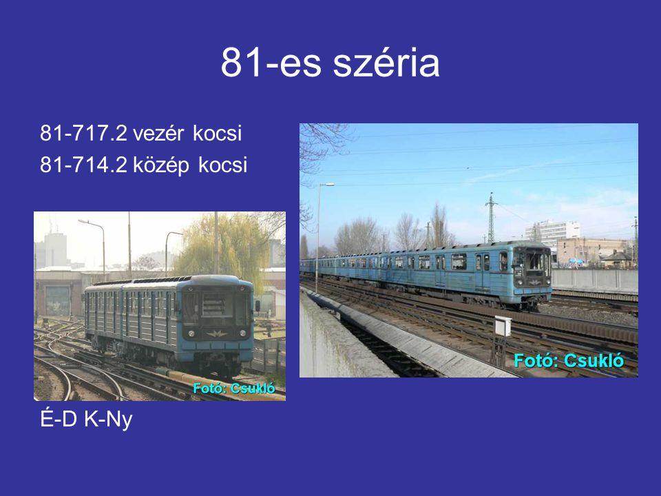 81-es széria 81-717.2 vezér kocsi 81-714.2 közép kocsi É-D K-Ny