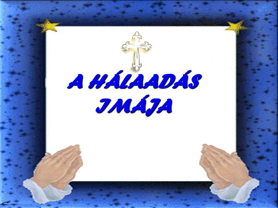 A HÁLAADÁS IMÁJA