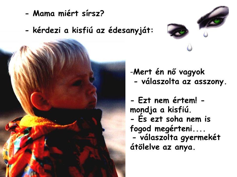 - kérdezi a kisfiú az édesanyját:
