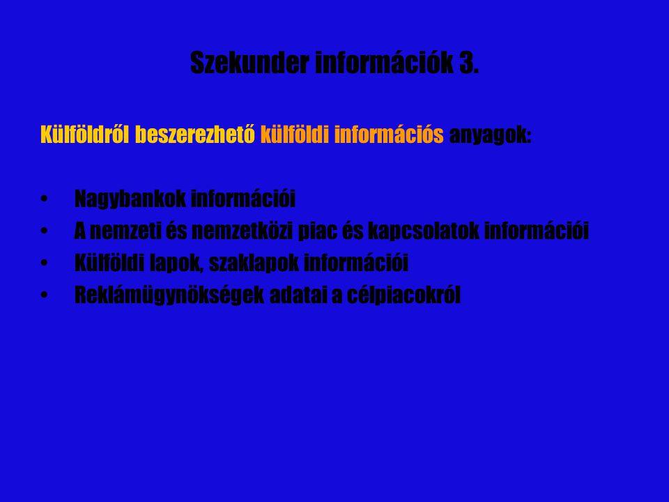 Szekunder információk 3.