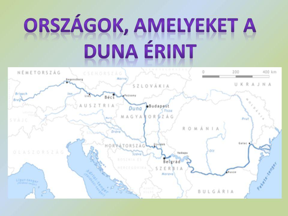 Országok, amelyeket a Duna érint
