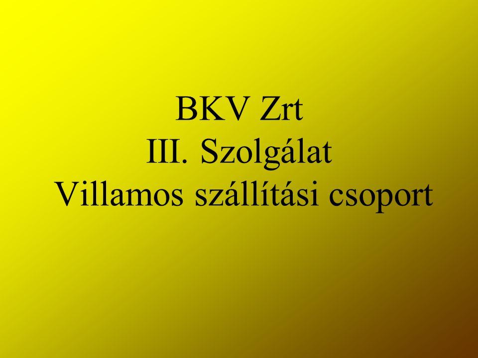 BKV Zrt III. Szolgálat Villamos szállítási csoport