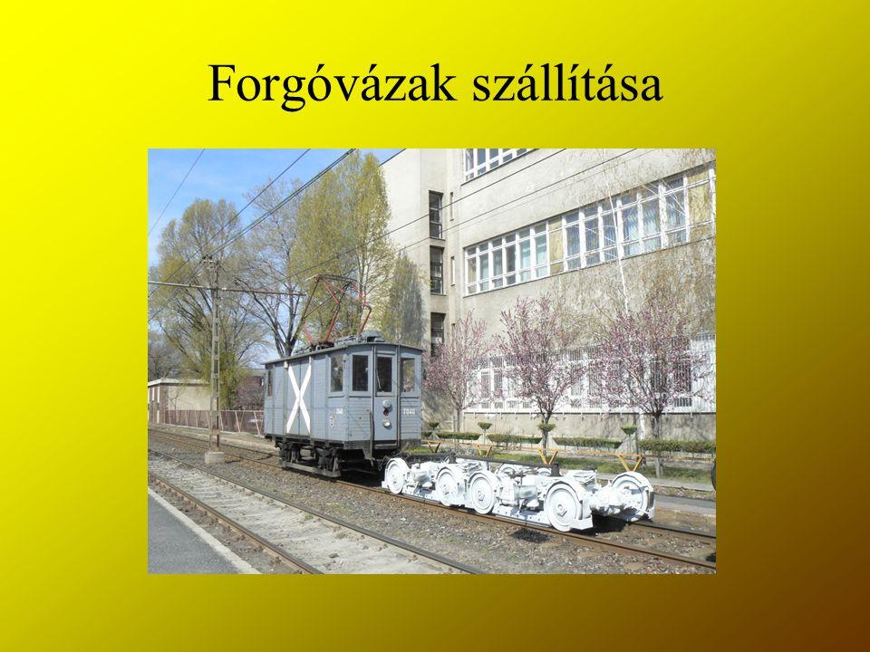 Forgóvázak szállítása