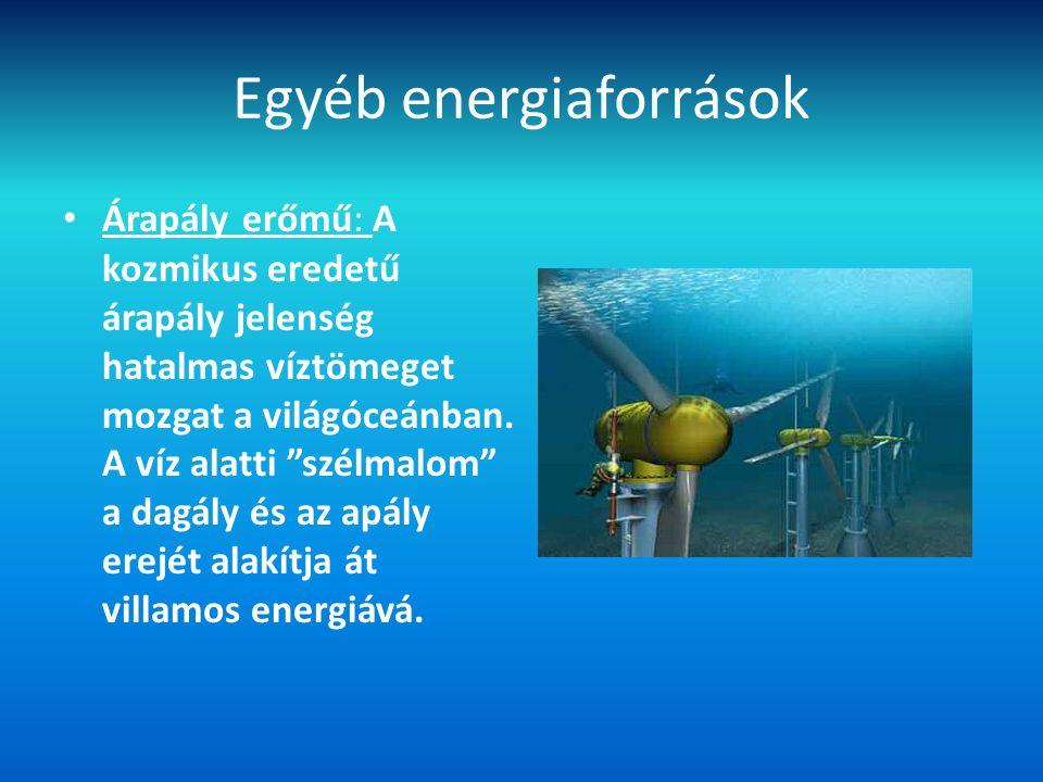 Egyéb energiaforrások