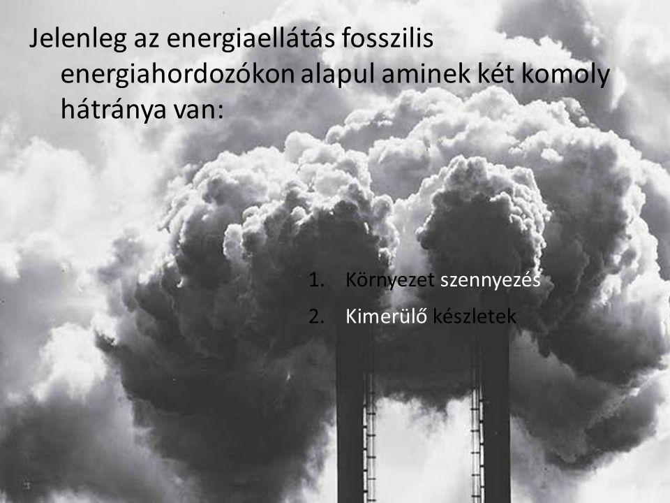 Jelenleg az energiaellátás fosszilis energiahordozókon alapul aminek két komoly hátránya van: