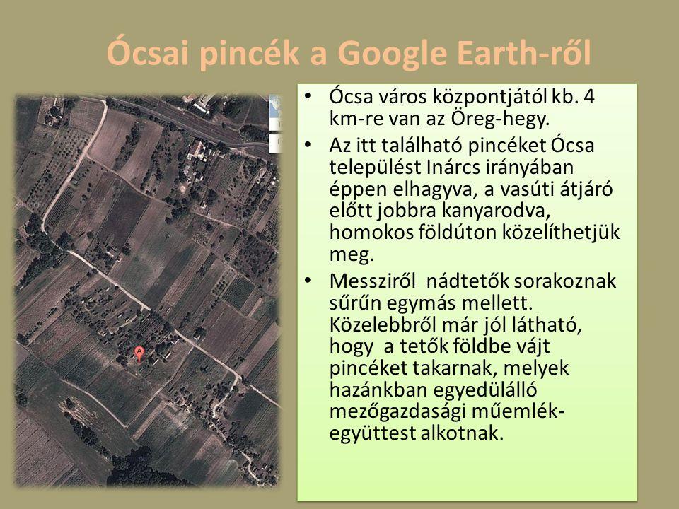 Ócsai pincék a Google Earth-ről