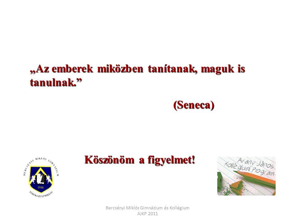 Bercsényi Miklós Gimnázium és Kollégium AJKP 2011