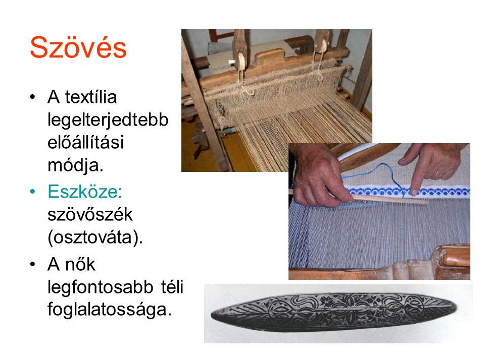 Szövés A textília legelterjedtebb előállítási módja.