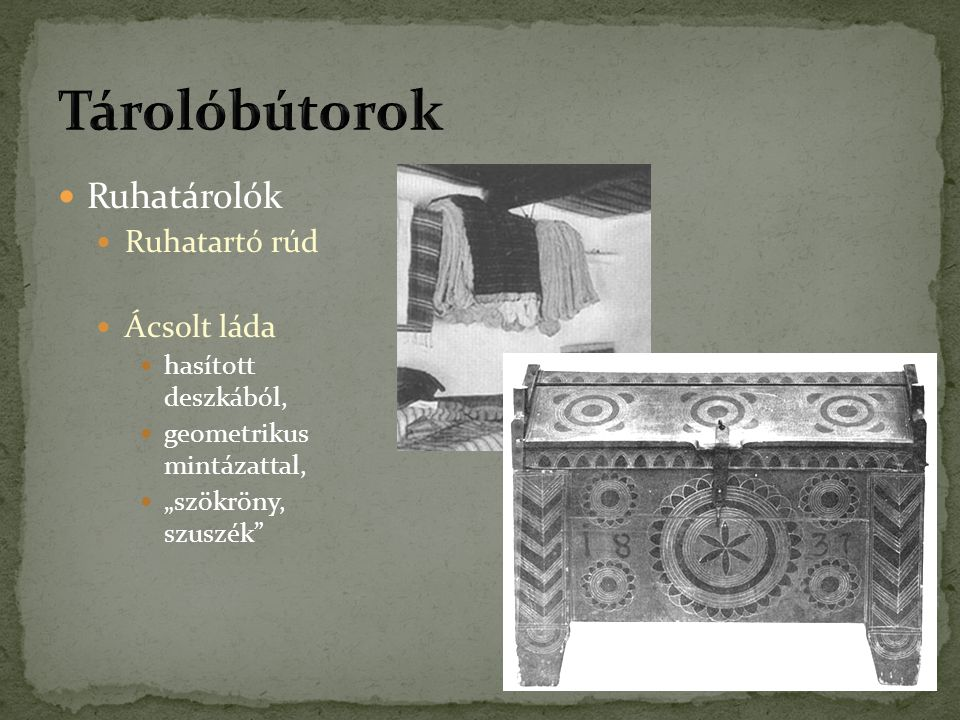 Tárolóbútorok Ruhatárolók Ruhatartó rúd Ácsolt láda