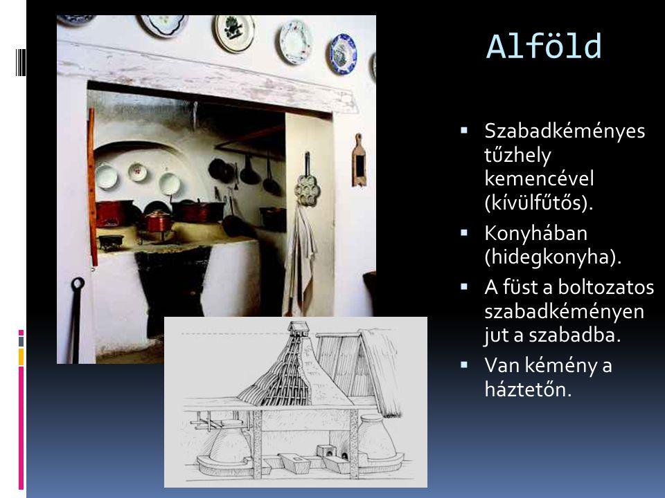 Alföld Szabadkéményes tűzhely kemencével (kívülfűtős).