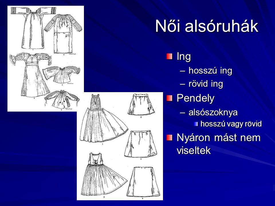 Női alsóruhák Ing Pendely Nyáron mást nem viseltek hosszú ing