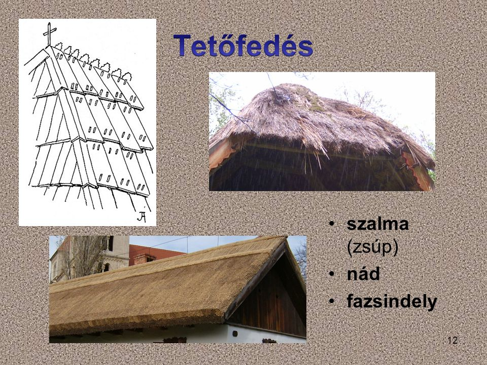 Tetőfedés szalma (zsúp) nád fazsindely