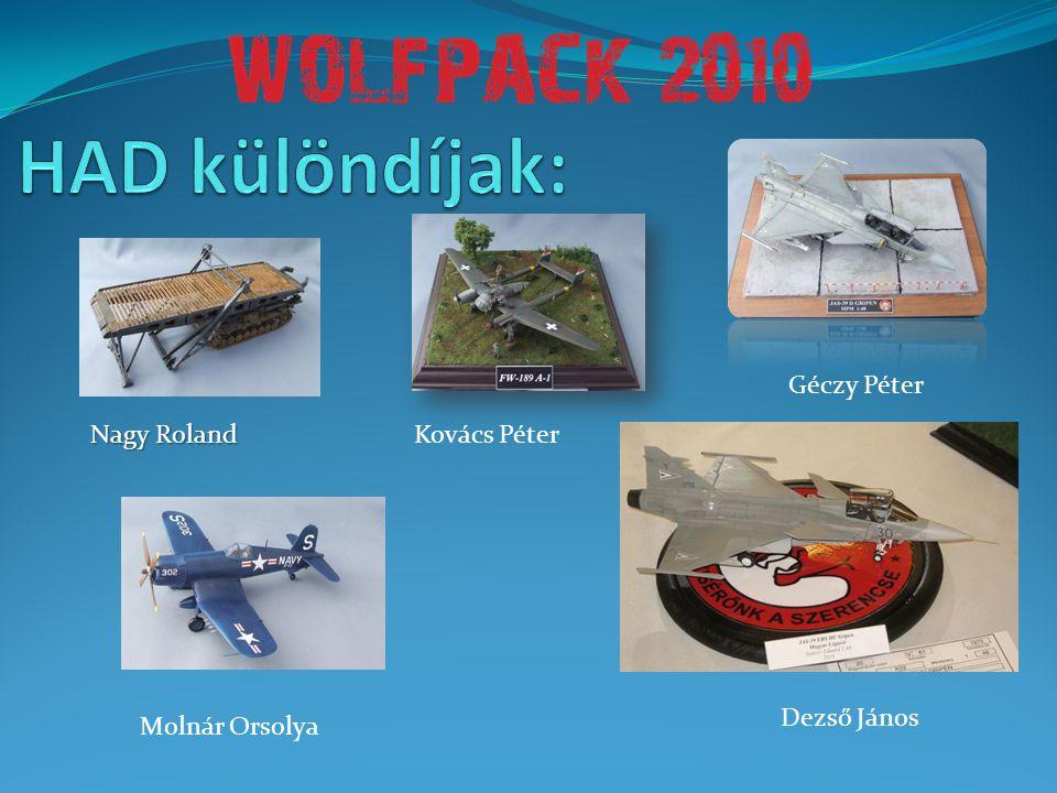 HAD különdíjak: Géczy Péter Nagy Roland Kovács Péter Dezső János