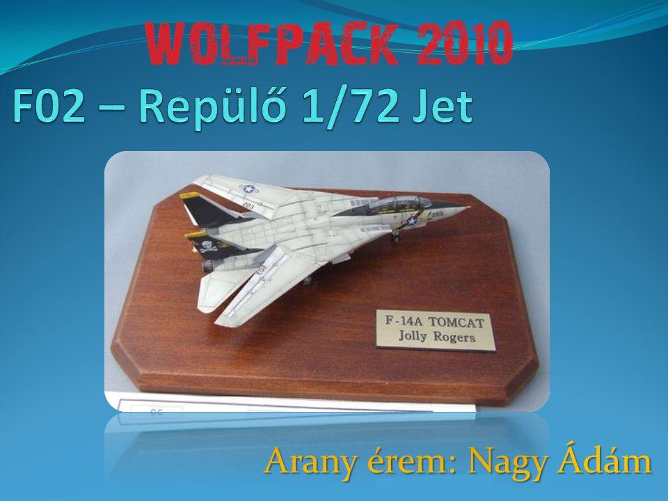F02 – Repülő 1/72 Jet Arany érem: Nagy Ádám