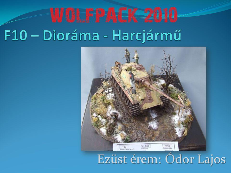 F10 – Dioráma - Harcjármű Ezüst érem: Ódor Lajos