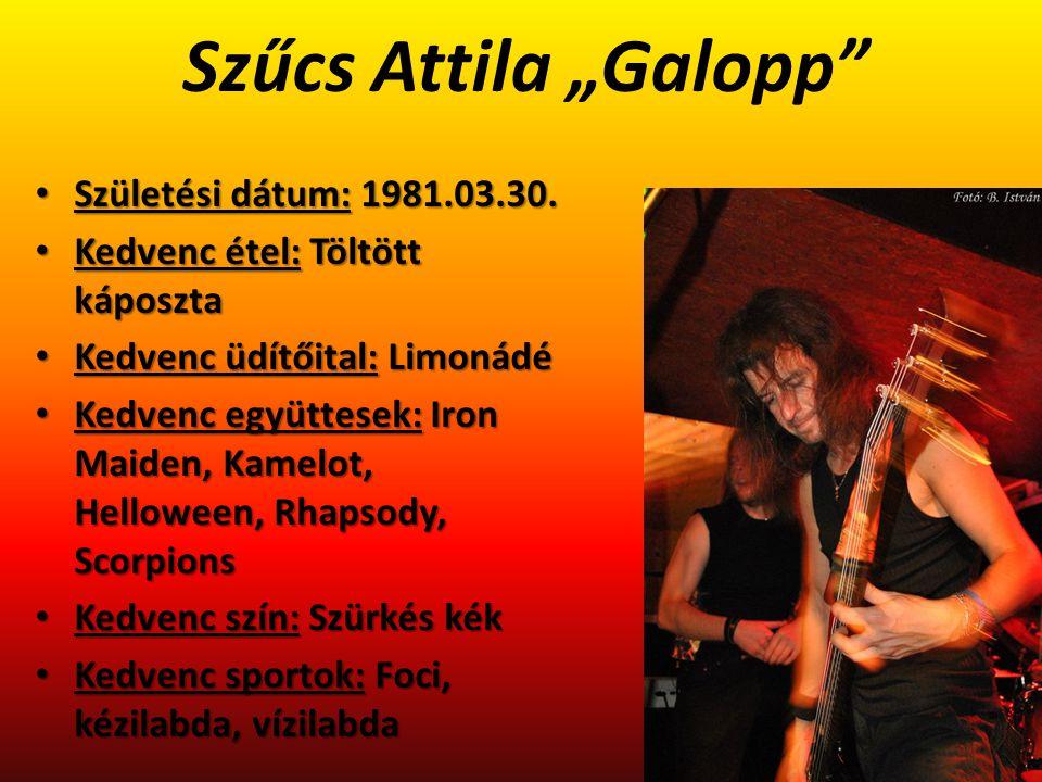 """Szűcs Attila """"Galopp Születési dátum: 1981.03.30."""