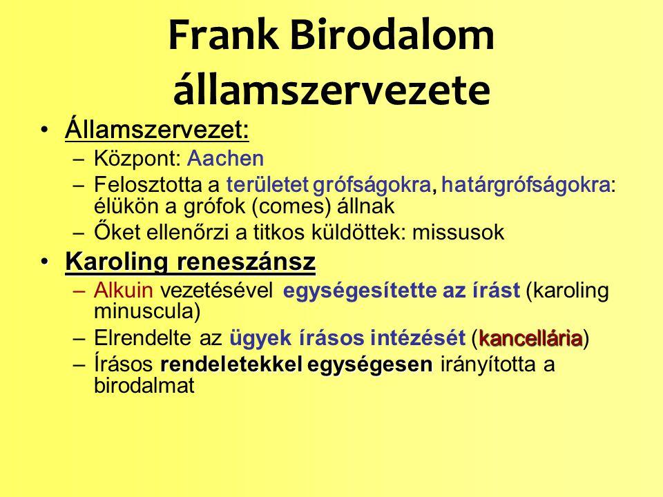Frank Birodalom államszervezete