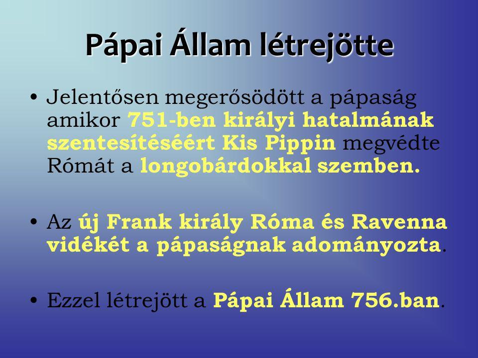 Pápai Állam létrejötte
