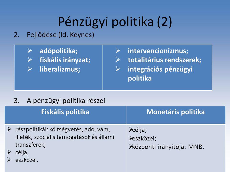 Bevezető előadás, Pénzügyi jog 1.