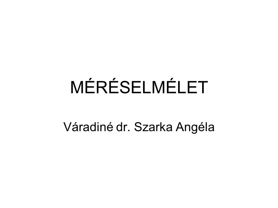 Váradiné dr. Szarka Angéla