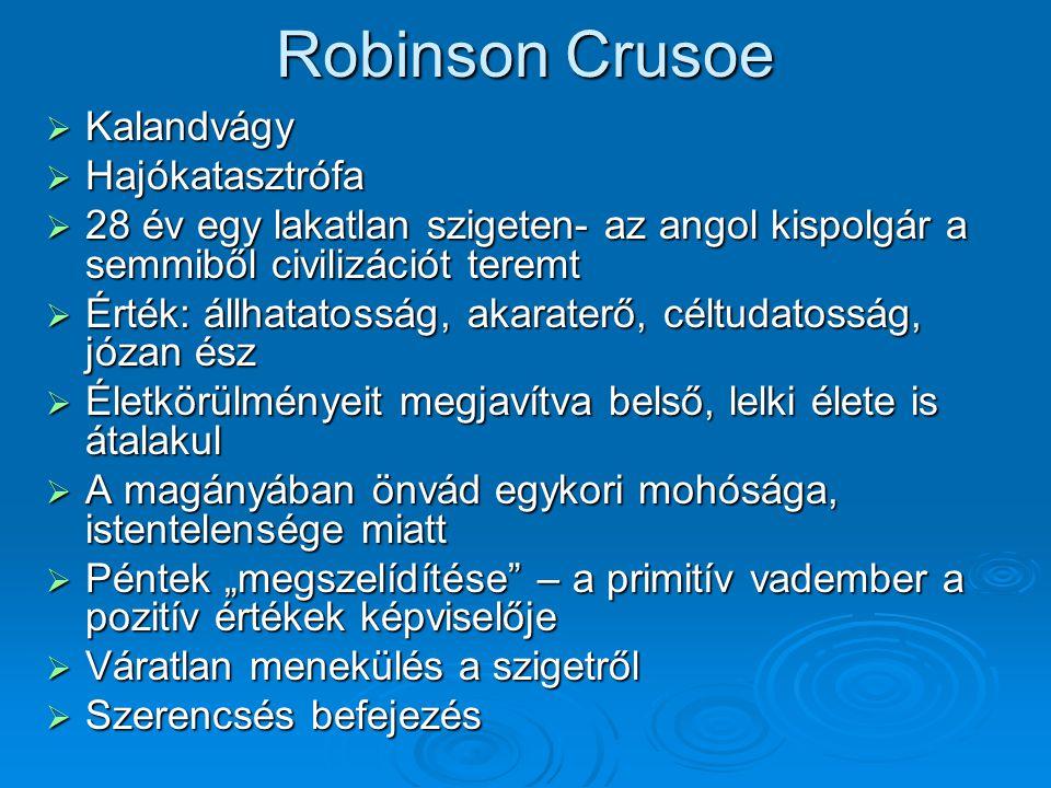Robinson Crusoe Kalandvágy Hajókatasztrófa