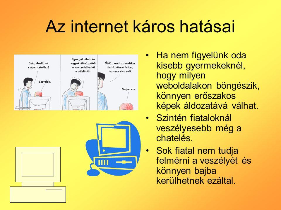 Az internet káros hatásai