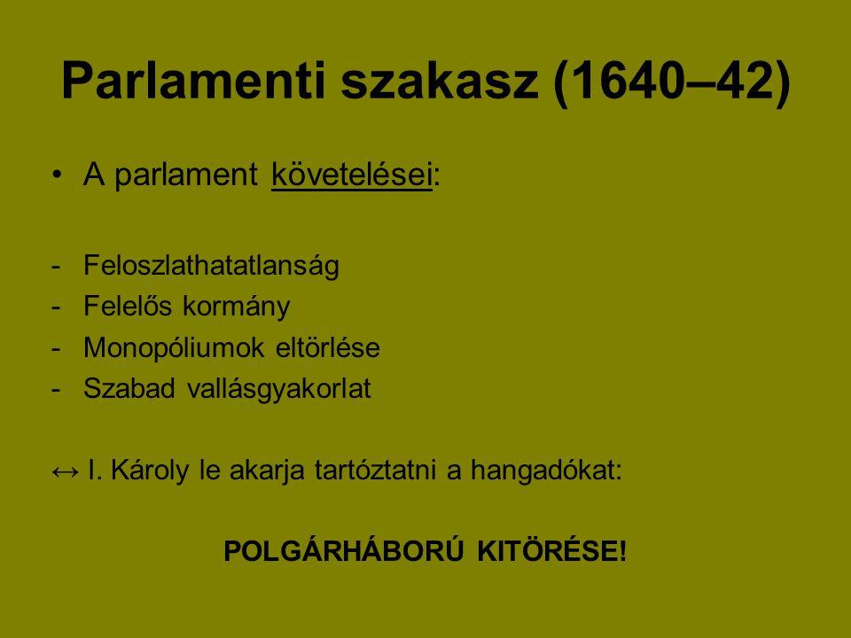 Parlamenti szakasz (1640–42)
