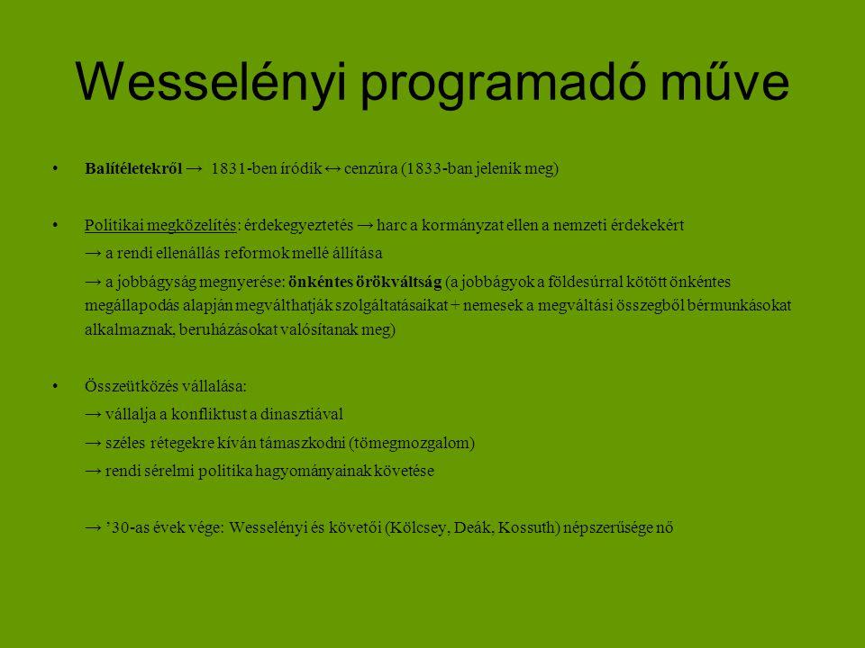 Wesselényi programadó műve
