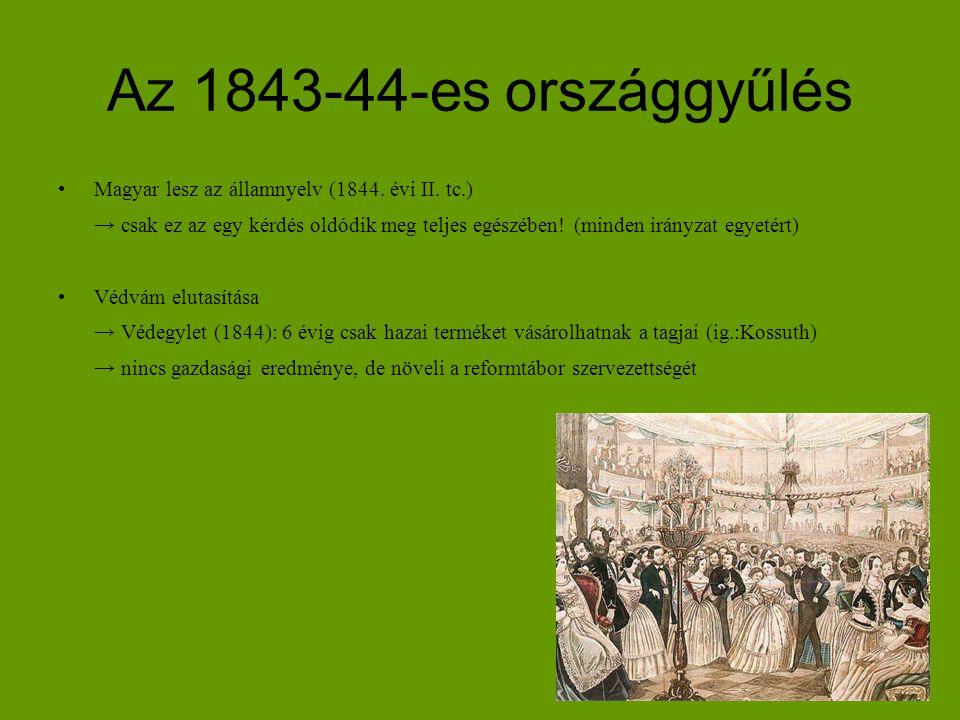 Az 1843-44-es országgyűlés Magyar lesz az államnyelv (1844. évi II. tc.)