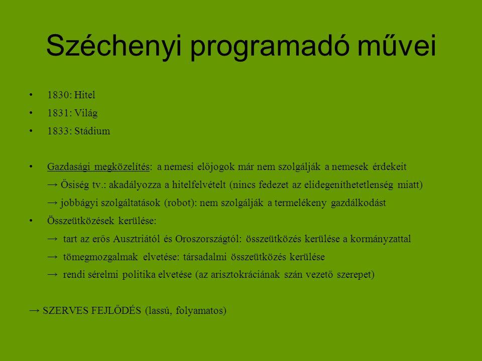 Széchenyi programadó művei