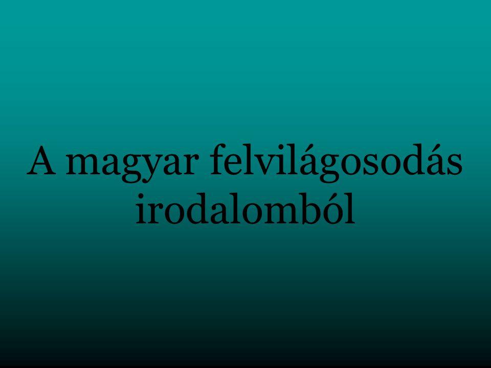 A magyar felvilágosodás irodalomból