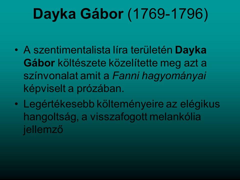 Dayka Gábor (1769-1796)
