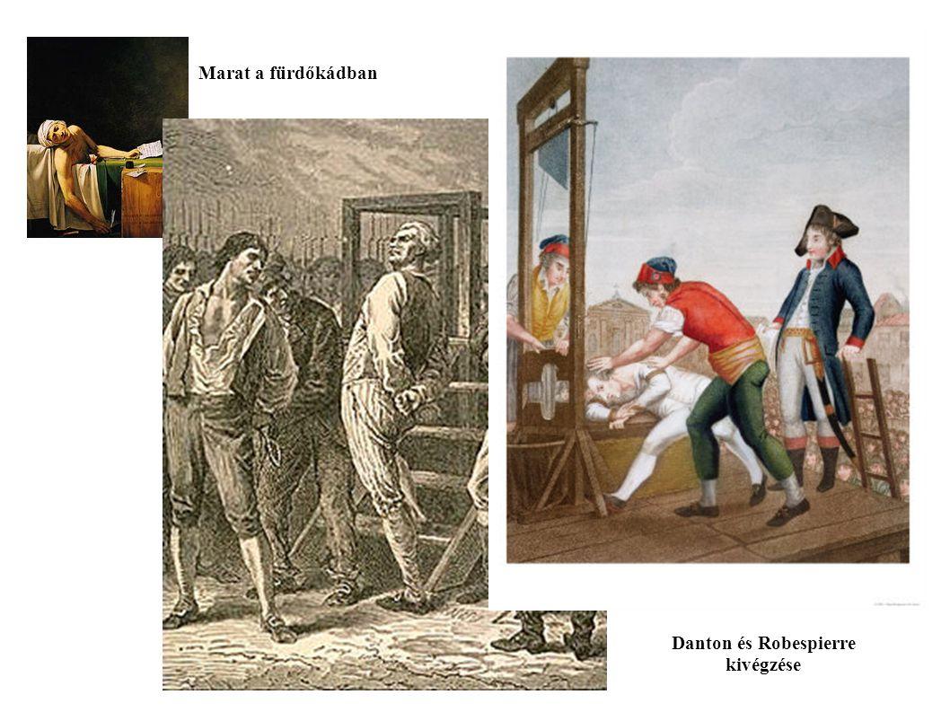 Danton és Robespierre kivégzése