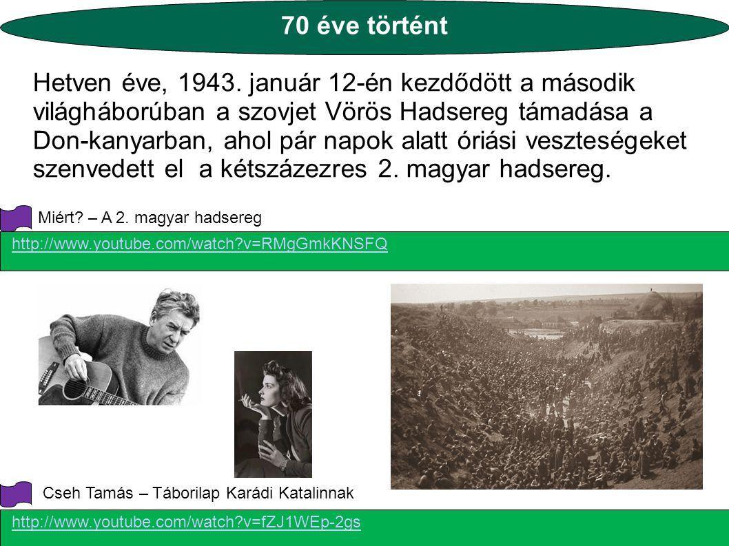 70 éve történt