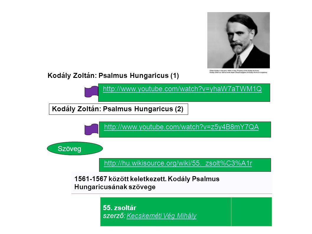 Kodály Zoltán: Psalmus Hungaricus (1)