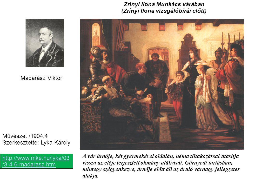 Zrínyi Ilona Munkács várában (Zrínyi Ilona vizsgálóbírái előtt)